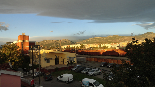 View from our hotel in Podgorica